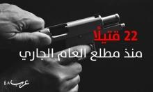 منذ مطلع العام: 22 قتيلا عربيا ولائحتا اتهام فقط