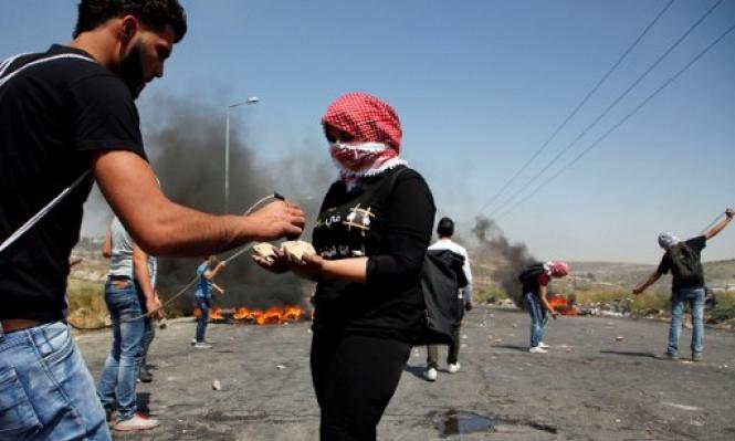 مواجهات خلال محاولة الاحتلال قمع مظاهرة مساندة للأسرى