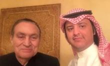 مبارك يبدو مبتسما وفرحا بأول ظهور خارج السجن