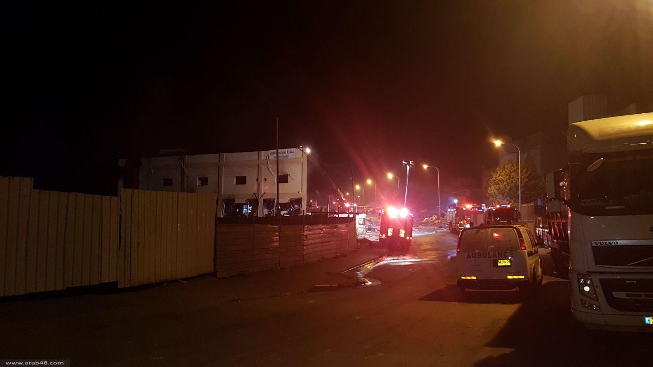 طمرة: حريق وانفجار في أحد المصانع