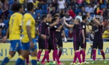 هاتريك نيمار يقود برشلونة للفوز على لاس بالماس