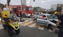 إصابة خطيرة بحادث طرق قرب الرملة