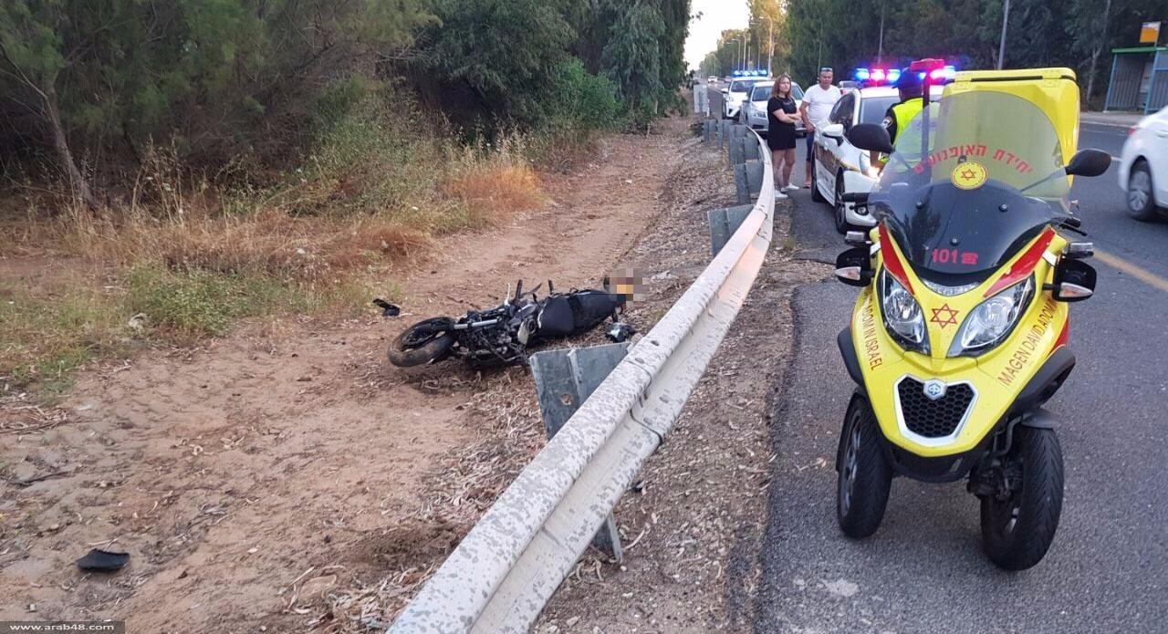 عرب العرامشة: مصرع سائق الدراجة النارية معاوية مزعل