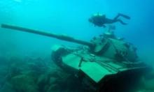 إغراق دبابة في البحر المتوسط لتنشيط سياحة الغوص
