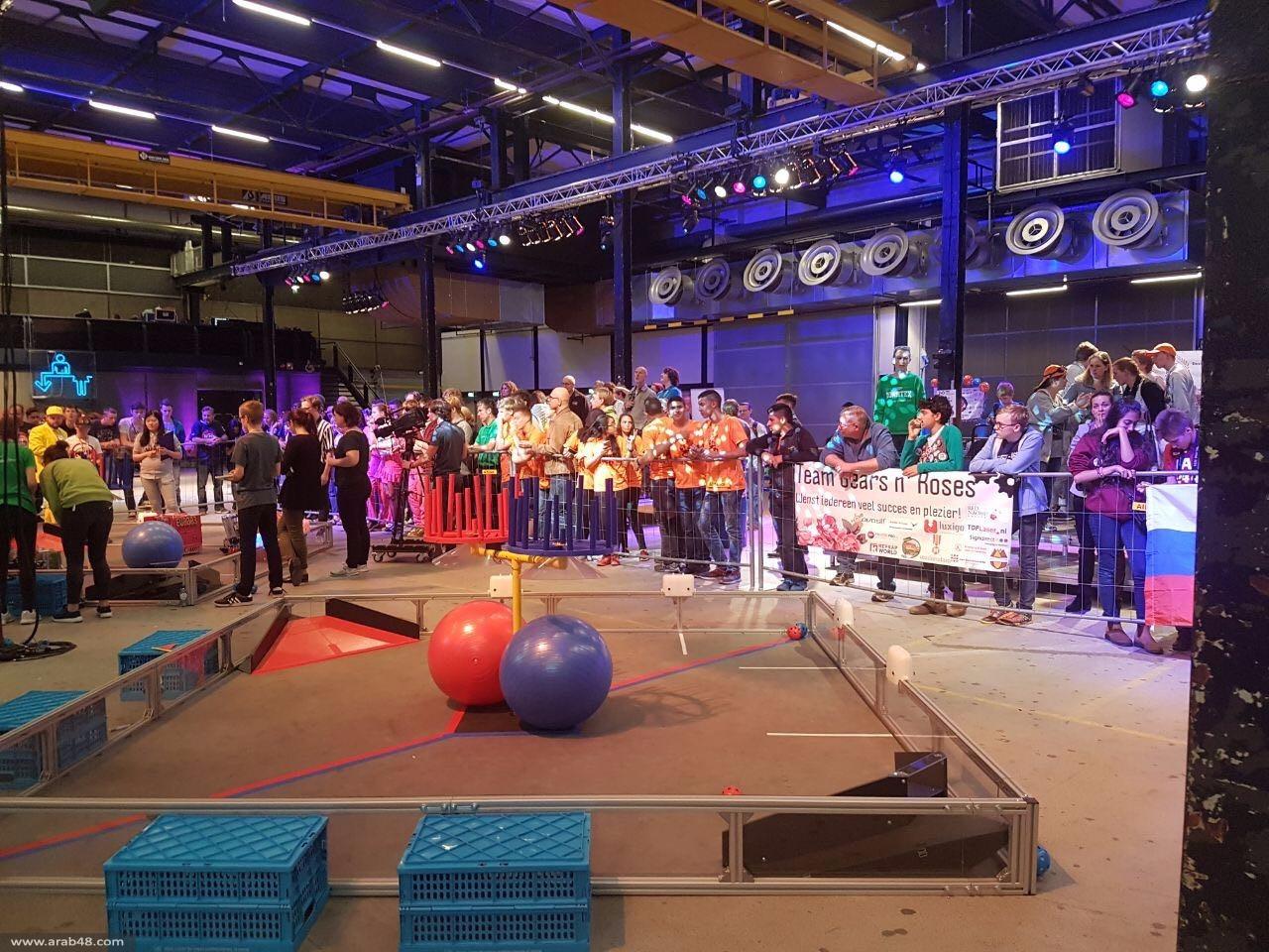 ثانوية جت الثالثة عالميا بمسابقة الريبوتيكا بهولندا