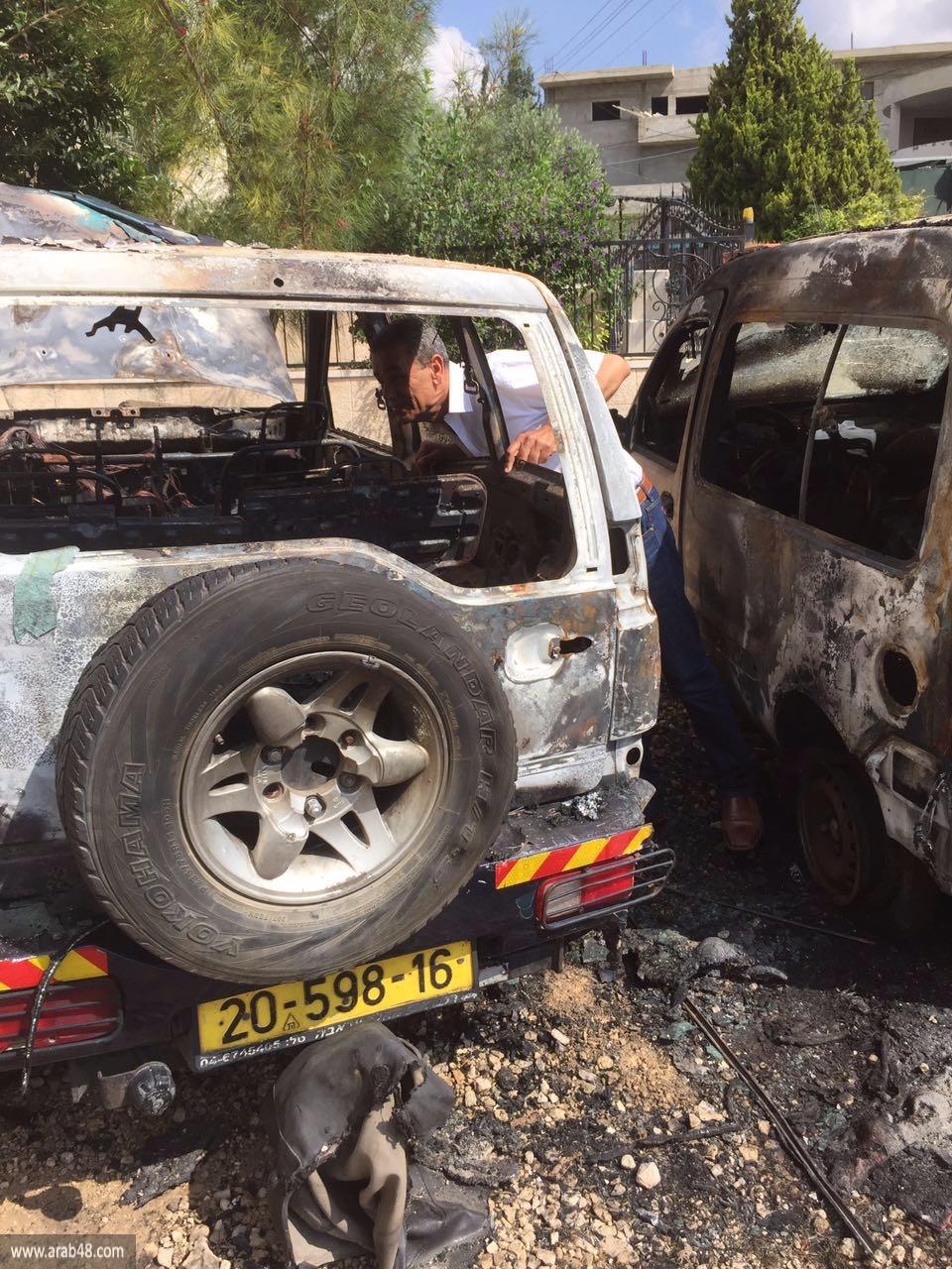 """زحالقة: جريمة حرق السيارات بعارة حلقة جديدة بجرائم """"تدفيع الثمن"""""""