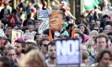 الآلاف يتظاهرون ضد ترامب في بروكسل