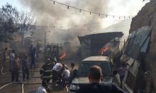 البعنة: إخلاء منازل إثر اندلاع حريق