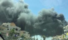إخلاء منازل في يافة الناصرة والمشهد بعد اندلاع حريقين