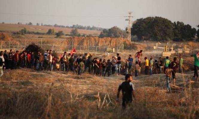 9 إصابات بمواجهات مع الاحتلال في قطاع غزة