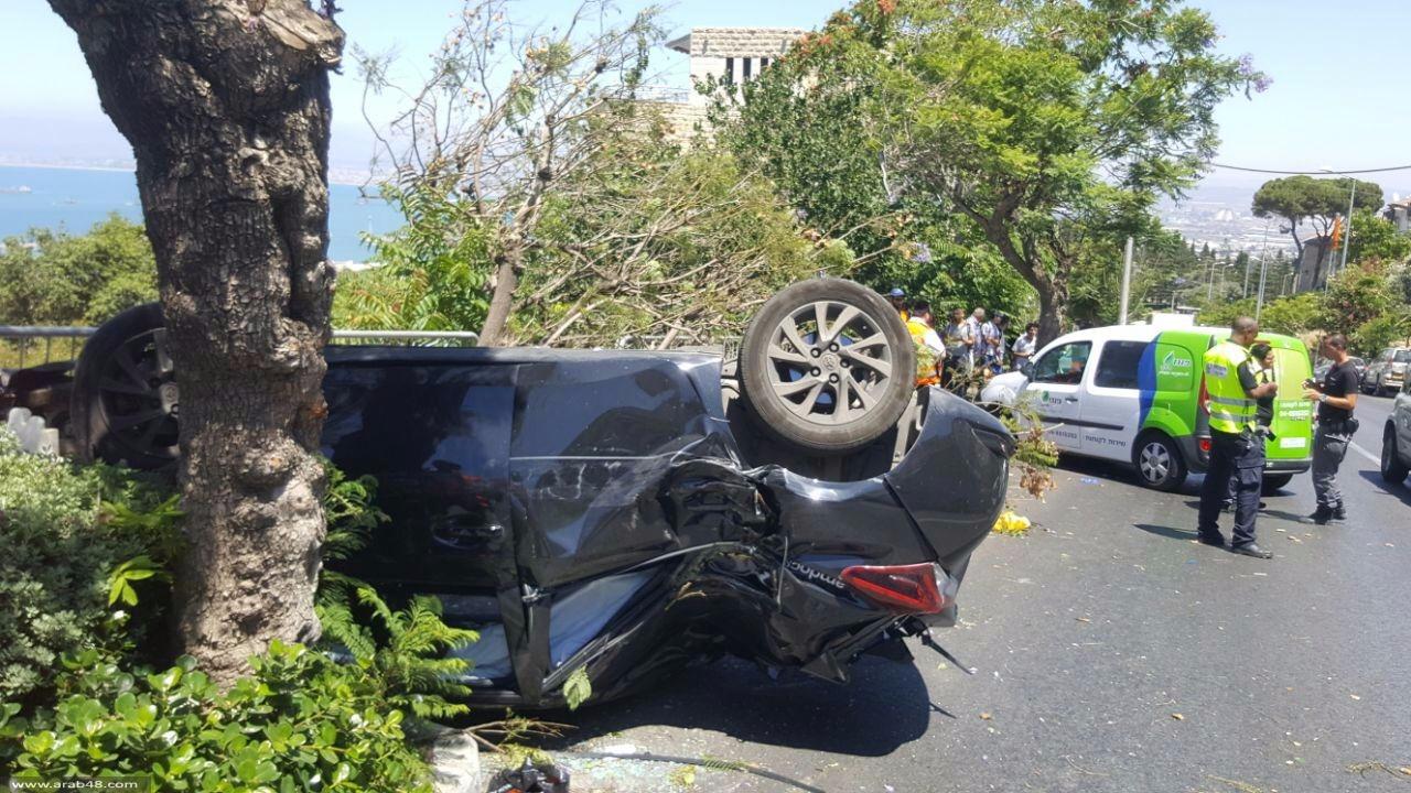 مصرع طفل من الطيبة الزعبية بانقلاب سيارة في حيفا