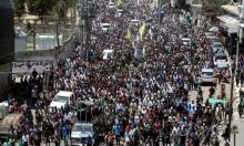 الآلاف يشيعون جنازة الشهيد أبو نجا القيادي بالقسام