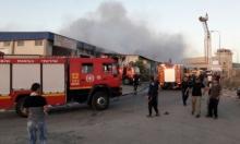 كفر كنا: حريق هائل يلتهم مخزنا كبيرا للمواد الغذائية