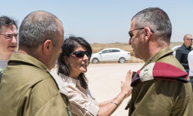 """سفيرة أميركا تتفقد """"غلاف غزة"""" والحدود مع سورية ولبنان"""
