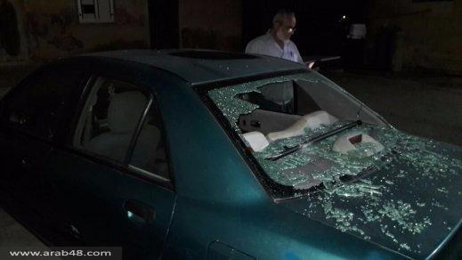 اعتداء على سيارة الشيخ العارف من جت المثلث