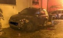 حرق سيارة مواطن في قلنسوة