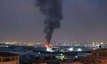 كفر قاسم: حريق هائل في محل تجاري