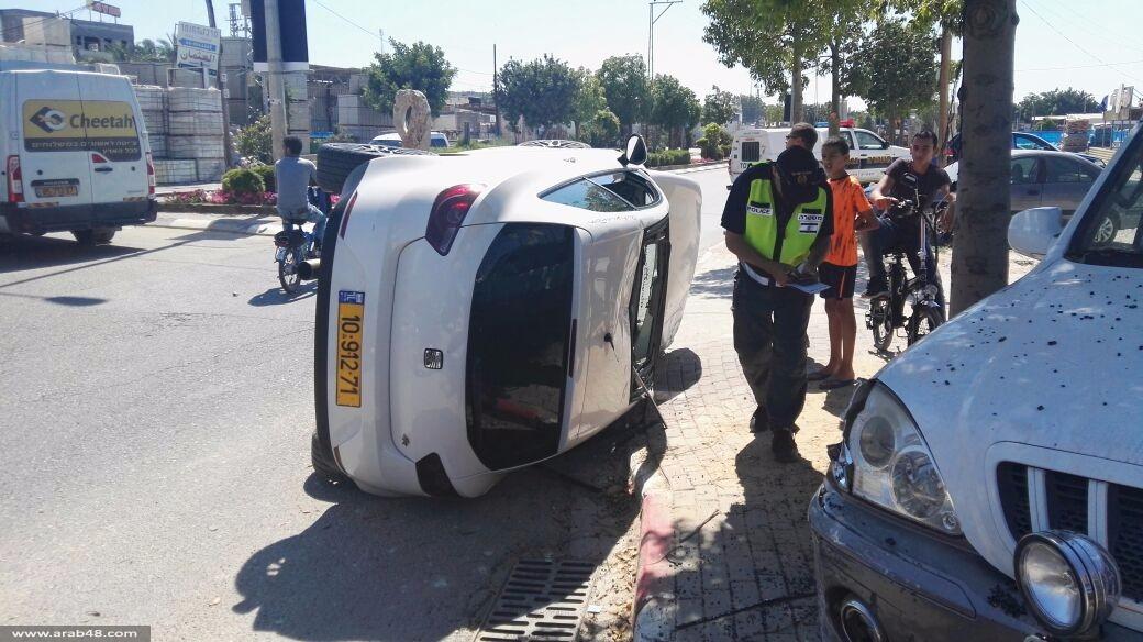 طمرة: 3 إصابات في حادث طرق
