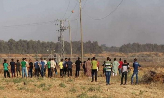 حراك شعبي قرب سياج غزة ضد تقليص الكهرباء