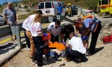 فسوطة: إصابة سائق دراجة نارية إثر انقلابها