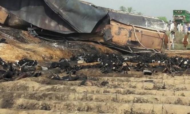 أكثر من 120 قتيلا في انفجار شاحنة محملة بالنفط بباكستان