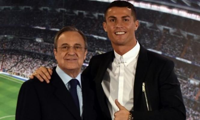 رئيس ريال مدريد يعرب عن غضبه بسبب كريستيانو