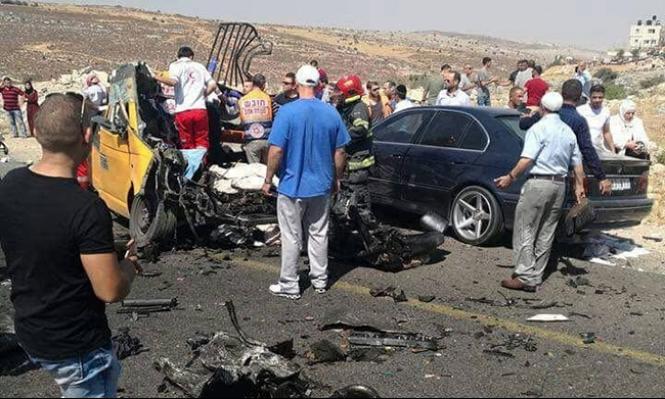 مجزرة على الشارع: ارتفاع عدد ضحايا حادث رام الله إلى 7