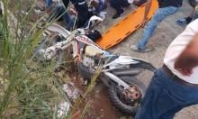 كفر كنا: إصابة حرجة لشاب إثر انقلاب دراجته النارية