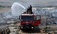 حريق يلتهم مخيما للاجئين السوريين بسهل البقاع بلبنان