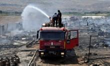 مصرع فتاة في حريق بمخيم للاجئين السوريين في لبنان