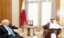 جونسون يبحث مع أمير قطر مستجدات الأزمة الخليجية