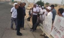 تظاهرتان في قرية بئر هداج احتجاجا على سياسة الهدم والترحيل