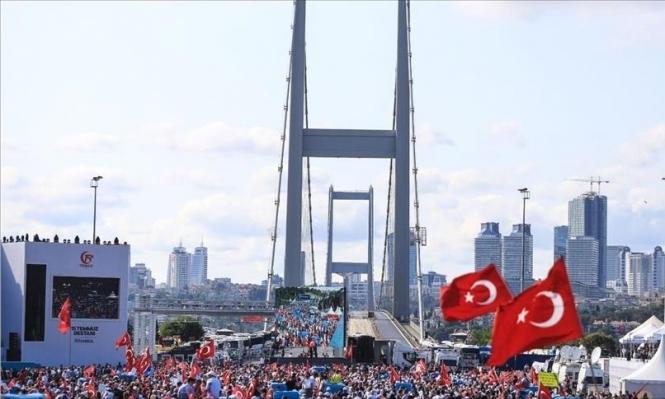 الأتراك يحيون الذكرى الأولى لمحاولة الانقلاب الفاشلة