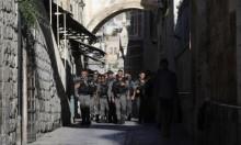البلدة القديمة في القدس: المحتل ينشر قواته (أ ف ب)