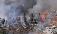 صفد: إخلاء منازل إثر حريق هائل