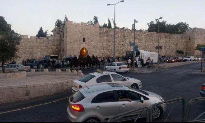 سلطات الاحتلال تغلق بوابات مدينة القدس بشكل كامل