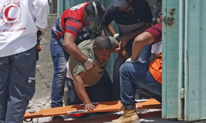"""""""الهلال الأحمر""""  قدم خدماته الإسعافية لنحو 450 مصابا بالضفة الغربية والقدس"""