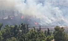 إخلاء منازل جراء حريق بوادي المصلبة بالقدس