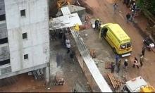 مصرع عامل سقط عليه جسم ثقيل بورشة بناء