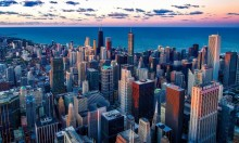 سينما في الهواء الطلق بمدينة شيكاغو