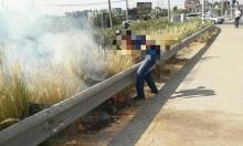 اعتقال شابين عربيين بشبهة إشعال النار قرب شارع 40