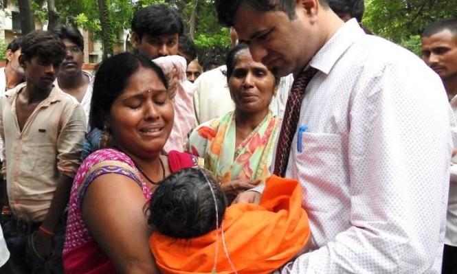 نقص الأوكسجين في مستشفى هندي يتسبب بوفاة 60 طفلًا