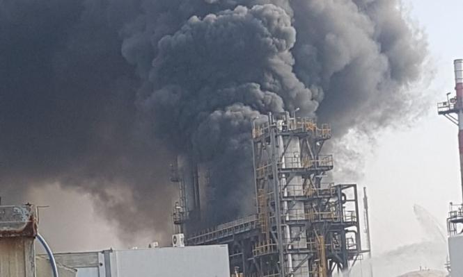 حريق في مستودع للوقود في ميناء أسدود
