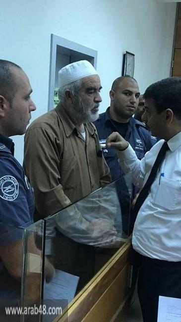 تمديد اعتقال الشيخ رائد صلاح لغاية الخميس