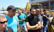 كفر ياسيف: العشرات يتظاهرون أمام مكاتب شركة العين