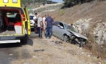 إصابة في حادث طرق قرب قرية معاوية