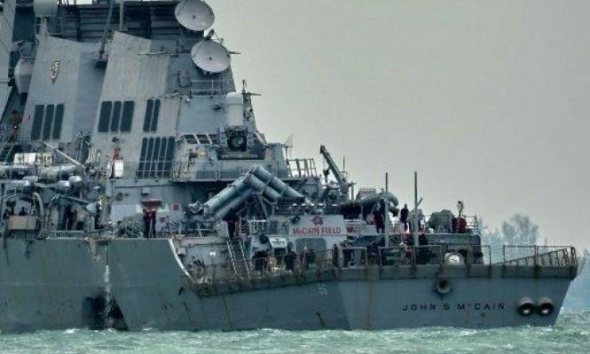 البحرية الأميركية توقف البحث عن 9 بحارة فقدوا في حادث