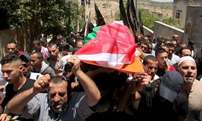 تشييع جثمان الطفلة أبو عون التي دهسها مستوطن قرب نابلس