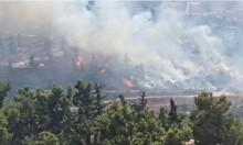 اندلاع حريق هائل قرب مجيدو