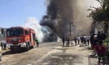 طمرة: احتراق حافلة في منطقة مأهولة